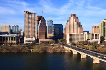 View of the city of Austin, Texas.