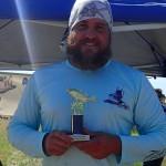 2nd Place Adult - Ryan Jones holding trophy
