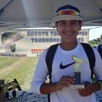 2nd Place Youth - Oscar Garza holding trophy